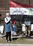 Protestas de Siria Fotos de archivo libres de regalías