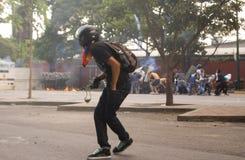 Protestas de Velezuelan Fotos de archivo libres de regalías