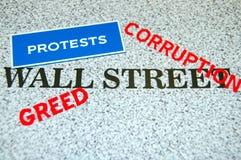 Protestas de Wall Street Imagen de archivo