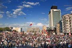 Protestas del parque de Gezi en Estambul Imagenes de archivo