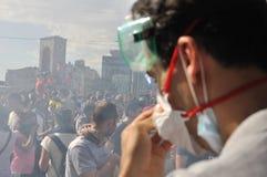 Protestas del parque de Gezi en Estambul fotos de archivo