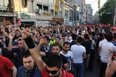 Protestas del parque de Gezi en Estambul Fotografía de archivo libre de regalías