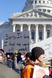 Protestas del presupuesto de Wisconsin Fotografía de archivo libre de regalías