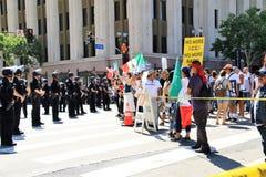 Protestas del primero de mayo en LA Imágenes de archivo libres de regalías