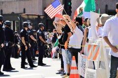Protestas del primero de mayo en LA Fotografía de archivo libre de regalías