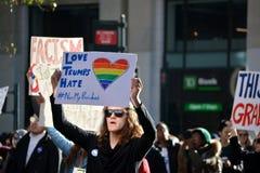 Protestas del triunfo Imagen de archivo libre de regalías