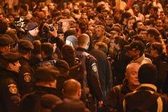 Protestas en Bucarest para la justicia imagen de archivo