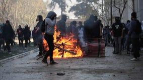 Protestas en Chile almacen de video