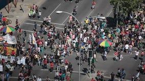 Protestas en Chile almacen de metraje de vídeo