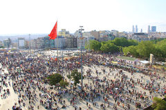 Protestas en el cuadrado de Turquía Taksim Imágenes de archivo libres de regalías