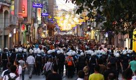 Protestas en Turquía fotografía de archivo libre de regalías