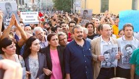 Protestas en Turquía Fotos de archivo libres de regalías