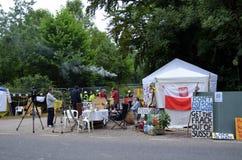 Protestas fracking de Balcombe Imagen de archivo libre de regalías