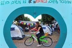2011 protestas israelíes de la justicia social Imagen de archivo libre de regalías