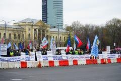Protestas rumanas de la policía, Rumania Imagen de archivo libre de regalías