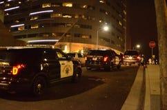 2015 protestas sociales en Oakland céntrica Fotografía de archivo