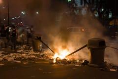 Protestas venezolanas Fotografía de archivo libre de regalías