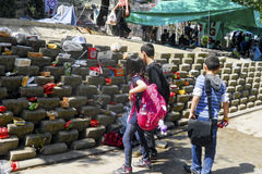 Protestas y eventos del parque de Taksim Gezi Los primeros auxilios de los manifestantes, Imágenes de archivo libres de regalías