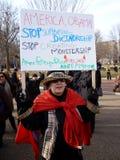 Protestataire déterminée de femme Photos libres de droits