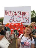 Protestataire de femme à la Maison Blanche  Photo stock