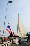 Protestataire thaïlandais contre le gouvernement Images stock