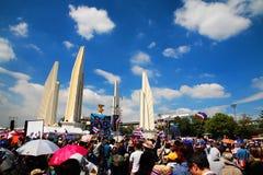 Protestataires au monument de démocratie à l'anti facture d'amnistie de gouvernement Photographie stock libre de droits