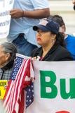Protestataires au rassemblement de rêveurs de défense image stock