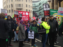 Protestataires d'antiracisme, Londres Image stock