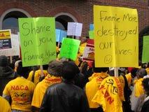 Protestataires de Fannie Mae photos stock