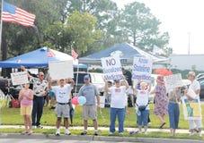 Protestataires de réception de thé Images libres de droits