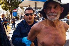 Protestataires nus Photos libres de droits