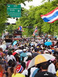 Protestataires thaïlandais de PDRC Photo stock