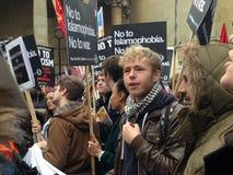 Protestatario di antirazzismo, Londra Fotografia Stock Libera da Diritti