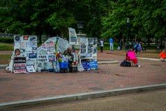 Protestatario in Washington DC Immagini Stock