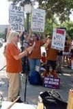 Protestateurs pour l'avortement et l'euthanasie texans Photo stock