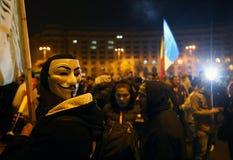 Protestation à Bucarest, Roumanie Photo libre de droits