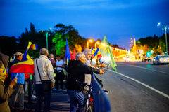 Protestation à Bucarest, Roumanie Image libre de droits