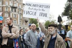 Protestation à Moscou le 15 septembre 2012 Image libre de droits