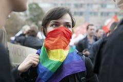 Protestation à Moscou le 15 septembre 2012 Photos libres de droits