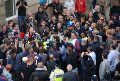 Protestation 28/08/10 de Bradford EDL Photo stock