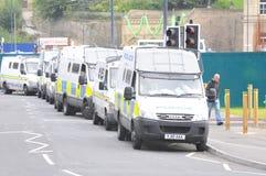 Protestation 28/08/10 de Bradford EDL Images stock