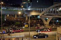 Protestation 9/7/12 d'étudiant de Hong Kong Photos stock
