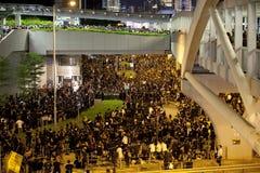 Protestation 9/7/12 d'étudiant de Hong Kong Photographie stock