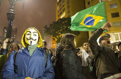 Protestation au Brésil photographie stock