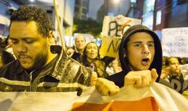 Protestation au Brésil photographie stock libre de droits