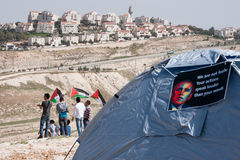 Protestation Barack Obama de Palestiniens image stock
