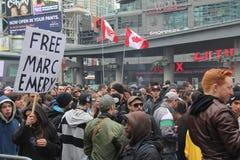 Protestation C de marijuana de Toronto Photo libre de droits