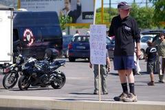 Protestation contre des péages sur A22 Photographie stock libre de droits