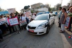 Protestation contre des règlements de Jérusalem est Image stock