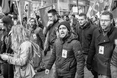 Protestation contre des réformes de travail dans les Frances Photos stock